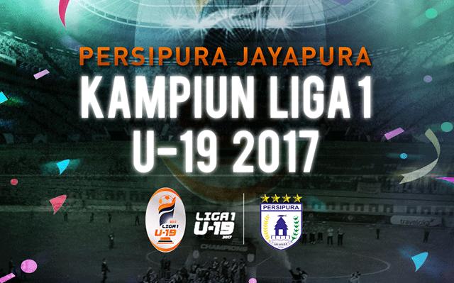 PERSIPURA TAMPIL SEBAGAI KAMPIUN LIGA 1 U19 TAHUN 2017