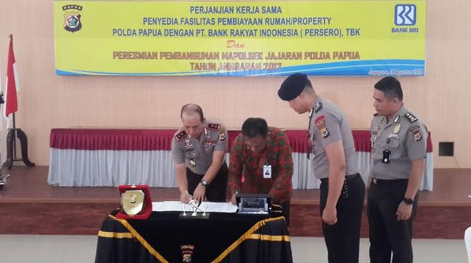 Kapolda Papua dan Direktur PT. BRI teken MoU dalam penyediaan fasilitas pembiayaan rumah/properti