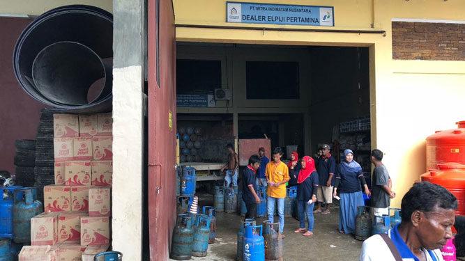 Salah satu pangkalan LPG di Timika Papua