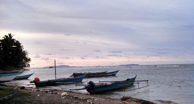 Salah satu pantai dipesisir Kabupaten Sarmi, Papua