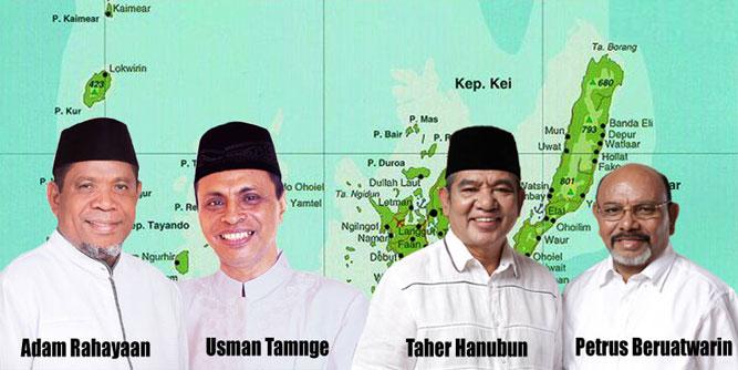 Pasangan Kepala Daerah Terpilih Kota Tual dan Kabupaten Maluku Tenggara