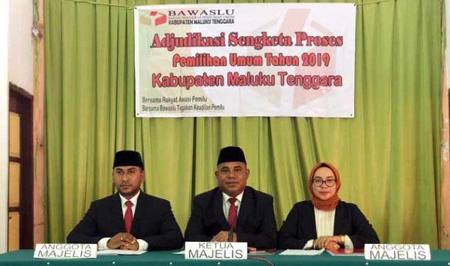 Sidang Ajudikasi Sengketa Proses Pemilu Tahun 2019 Kabupaten Maluku Tenggara