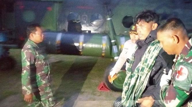 Pekerja PT. Istaka Karya, Jimmy Aritonang, salah satu saksi hidup aksi pembantaian keji di Nduga saat dievakuasi