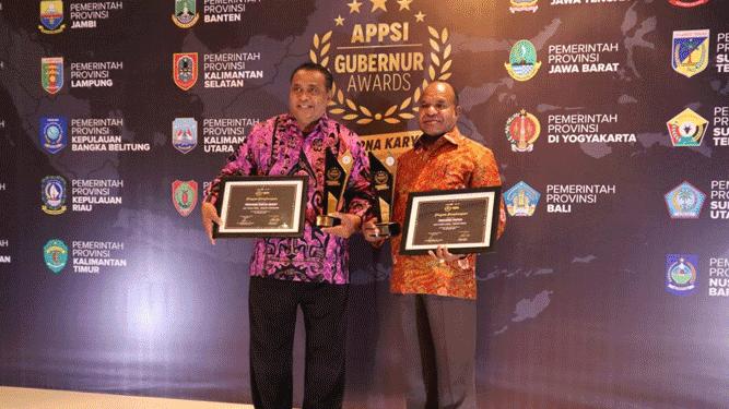 Pemerintah Provinsi Papua berhasil meraih 2 Penghargaan APPSI Award 2019