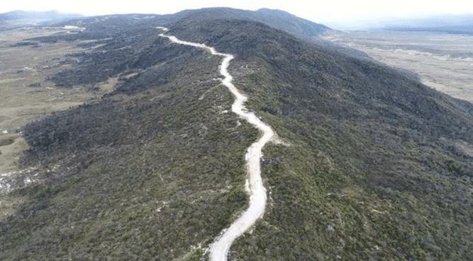 Jalan Trans Papua yang membelah kawasan Pengunungan Tengah