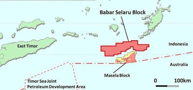 Peta lokasi Blok Masela, Kabupaten Maluku Tenggara Barat