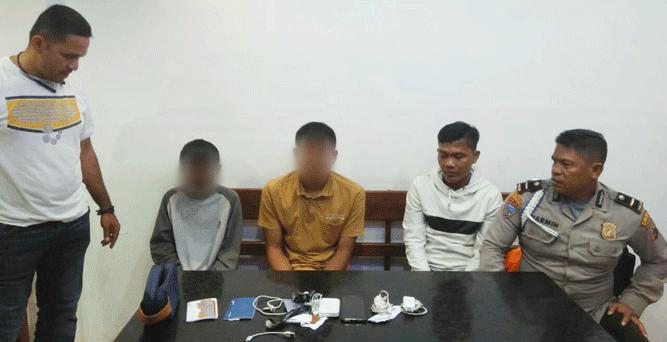 2 pelaku curas wartawan Kompas yang berhasil diamankan tim Charli Polres Jayapura Kota