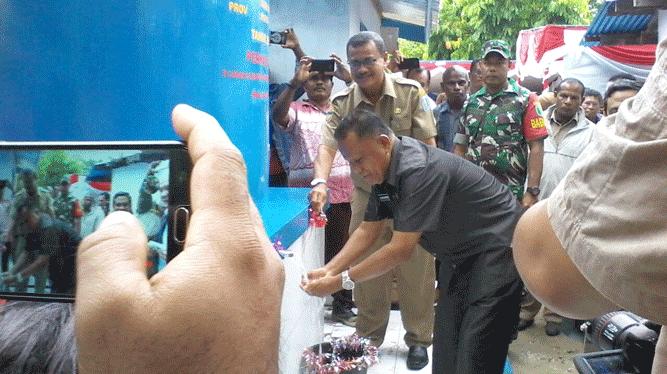 Sebanyak 4 daerah di Provinsi Papua menerima bantuan sumur bor air bersih dari Kementrian Energi Sumber Daya Mineral (ESDM)