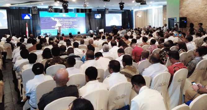 Pelaksanaan Musrenbang Inspirasi 2019 di Hotel Aston Jayapura, Rabu (24/4/2019)