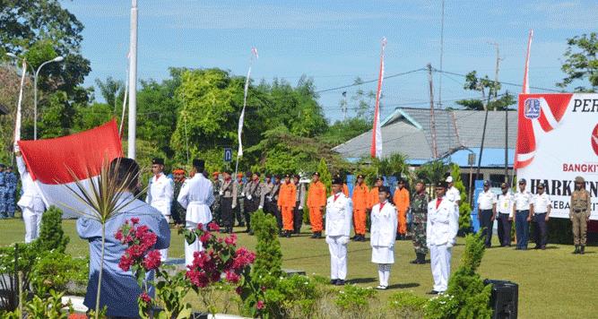 Momen upacara memperingati Harkitnas ke 111 di Biak Numfor, Senin (20/5/2019)
