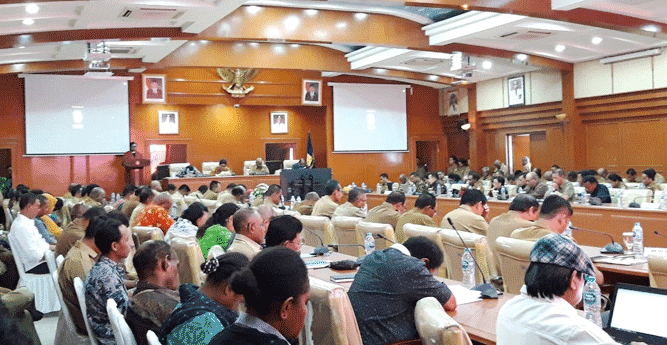 Pemprov Papua bersama KPK gelar Semiloka quo Vadis Pengaturan Pertanahan di Tanah Papua, Senin (22/7/2019)