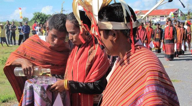 Sopi saat dipakai dalam acara-acara adat