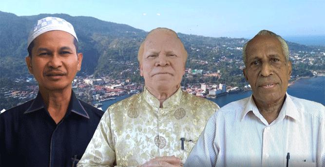 Dari kiri ke kanan : Ustadz dr. H. Tony Wanggai, Pdt. MPA. Mauri dan Budi Baldus Waromi