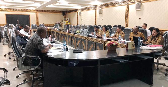 Dinkes Papua menggelar pertemuan bersama Komisi V DPR Papua, Selasa (22/10/2019)