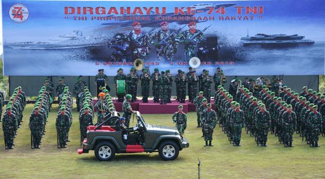 Peringatan HUT TNI ke 74 oleh Kodam XVII Cenderawasih