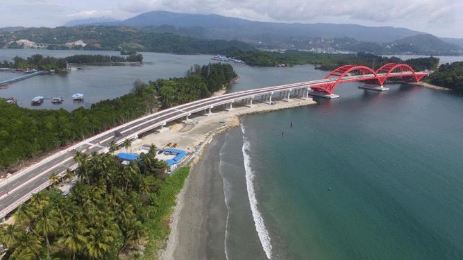 Jembatan yang menghubungkan kawasan Hamadi – Holtekamp baru saja diberi nama Rumadij