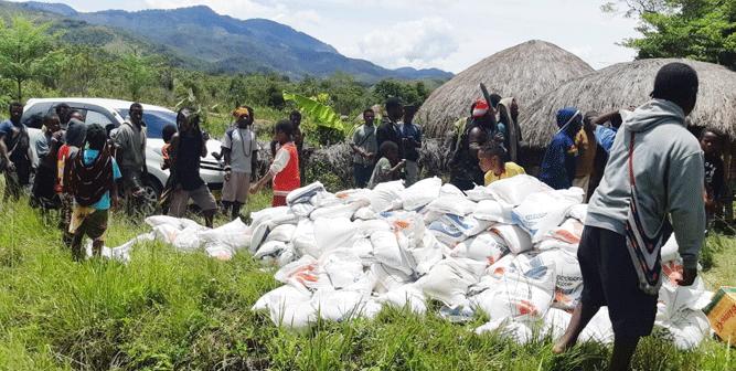 Bantuan yang disalurkan Kemensos RI bagi pengungsi Nduga