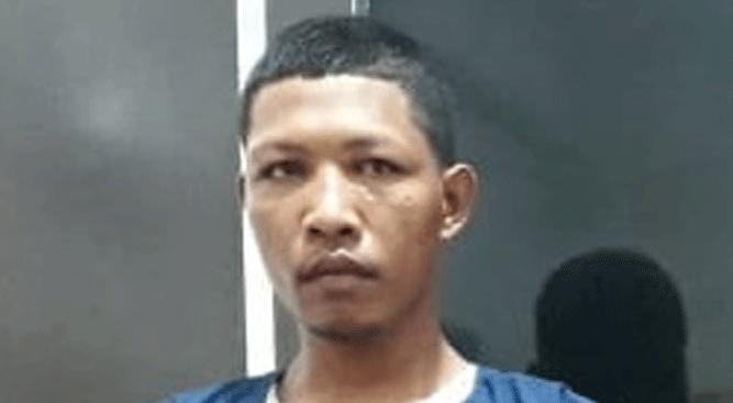 Saimun, pemilik ganja yang berhasil diamankan Polisi