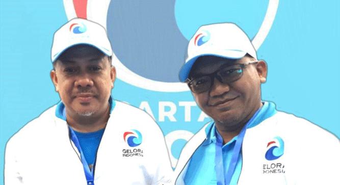 Muhammad Yamin Nich, SE, M.SA, Ketua DPW Partai Gelora Papua (kanan) dan Fahri Hamzah, petinggi partai