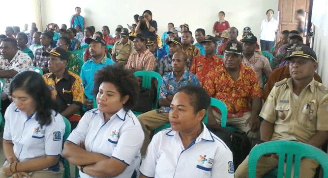 Kegiatan pelatihan PSDM dan KPM bagi 4 Distrik Kluster Biak Timur, Jumat (1/11/2019)