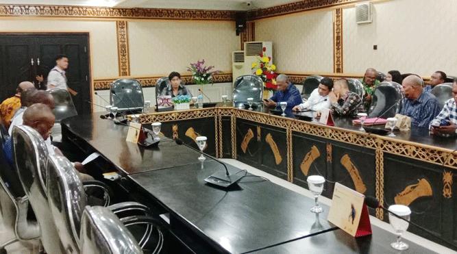 Momen pertemuan DPR Papua dengan Tim Pemekaran DOB OPapua Tabi