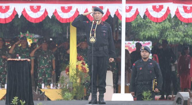 Wakapolda Papua Brigjen Pol. Drs. Yakobus Marjuki jadi irup HUT ke 74 Korps Brimob Polri