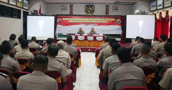 Pelaksanaan Rakernis Humas Polda Papua