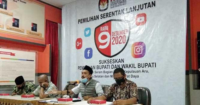 Ketua KPU Provinsi Maluku, Samsul Rivan Kubangun