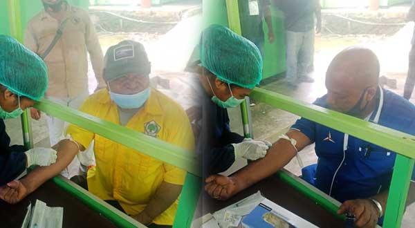 Paslon IMANI ketika menjalani pemeriksaan kesehatan di RSUD Supiori pada awal September 2020 lalu