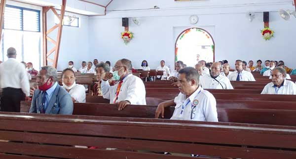 Suasana sidang jemaat yang berlangsung di Jemaat GKI Effata Waupnor, Klasis Biak Selatan, pekan kemarin
