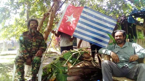 Ilustrasi | Juru Bicara TPNPB - OPM Sebby Sambom (kanan)