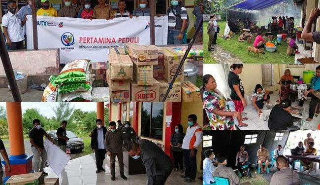 Pertamina Peduli Banjir Halmahera Utara
