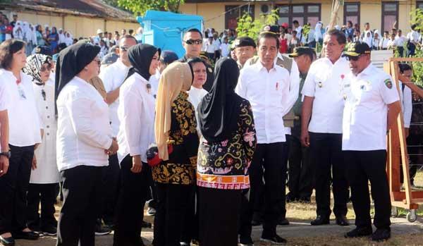 Presiden Joko Widodo dalam kunjungannya ke Maluku, beberapa waktu lalu