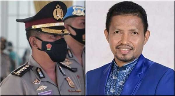 Kabid Humas Polda Papua Barat, Kombes Pol. Adam Erwindi dan Anggota DPR Papua Barat, Syamsudin Seknun