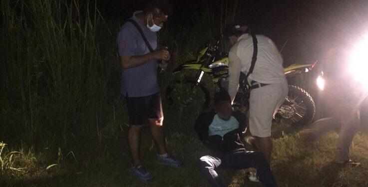 DH (22) Ditangkap Saat Razia Tim Gabungan Polres Jayapura di Sentani, Selasa (9/2/2021)
