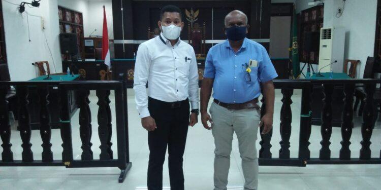 Tim Kuasa Hukum Pemerintah Provinsi Papua Barat di Pengadilan Tata Usaha Negara (PTUN) Jayapura, Kamis (11/2/2021). (Ist)