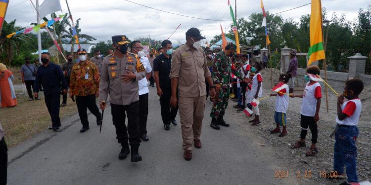 Lounching Udapi Hilir, Distrik Prafi, Kabupaten Manokwari sebagai pusat kampung Yaba Nonti, Kamis (25/2/2021). (Foto : Ist)