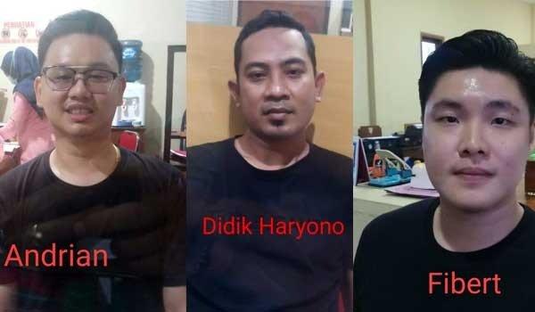 Tiga Pelaku Perampok Toko Emas di Banyuwangi, Jawa Timur, Senin (15/3/2021). Foto: Divisi Humas Polri