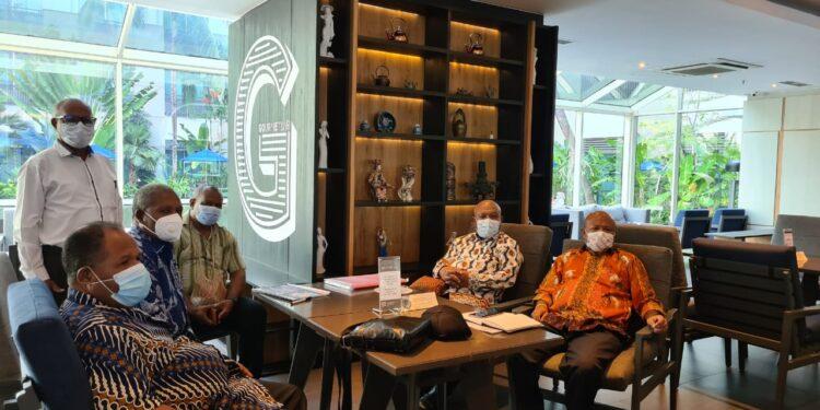 Pertemuan Sub PB PON XX Klaster Kabupaten Jayapura bersama KONI Pusat, di Jakarta, Selasa (22/6/2021) / Foto: IDI