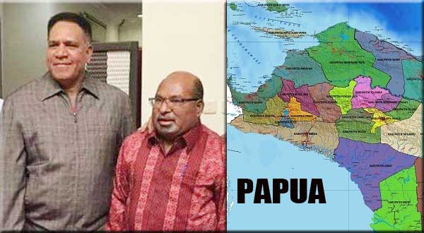 Komjen. Pol Paulus Waterpauw (kiri) – Gubernur Papua Lukas Enembe / Foto : Istimewa