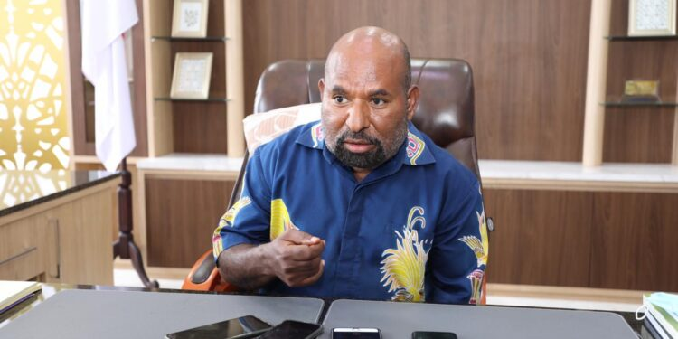 Gubernur Papua, Lukas Enembe, S.IP.,MH / Foto: Dian Mustikawati