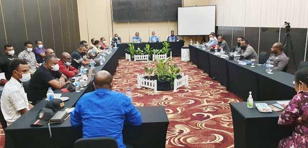 Momen RDP yang berlangsung di Hotel Horizon, Kota Jayapura, Sabtu (31/7/2021)