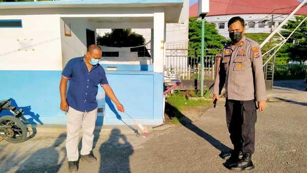 Penyidik Unit Reskrim Polsek Abepura Olah TKP Kasus Penganiayaan Security Kampus Uncen Jayapura, Senin (2/8/2021) / Foto: Humas Polresta Jayapura Kota