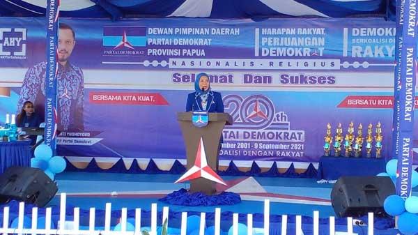 Deputi Bapilu DPP Partai Demokrat, DR. Andi Nurpati / Foto : Seo Balubun