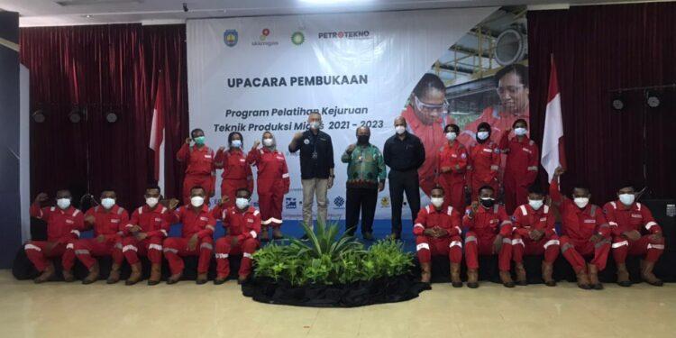 Upacara Pembukaan Program Pelatihan Kejuruan Teknik Produksi Migas Tahun 2021-2023 di Ciloto, Jawa Barat, Kamis (9/9/2021).(Foto : Istimewa)
