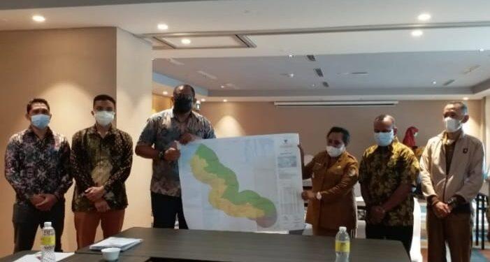 Pemda Teluk Bintuni dan Kabupaten Fakfak Capai Kesepakatan Tapal Batas Wilayah Pemerintahan dalam rapat bersama.(Foto : Istimewa)