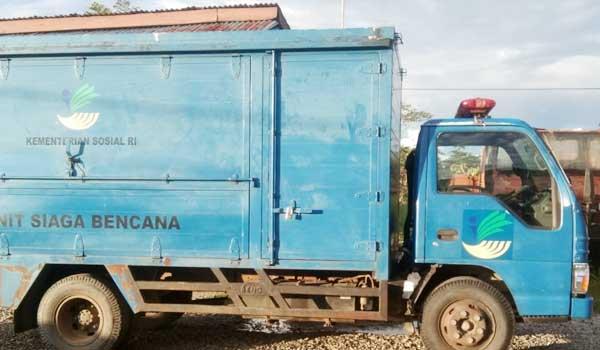 Sebuah truk dinas berplat merah milik Pemda Yahukimo yang turut diamankan Satgas Nemangkawi