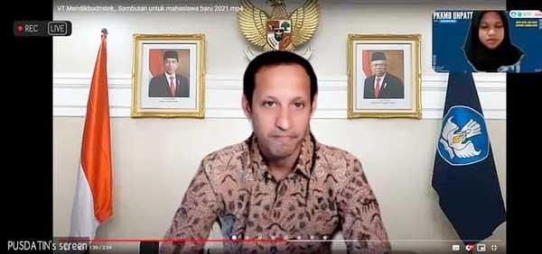 Menteri Pendidikan, Kebudayaan, Riset dan Teknologi RI Nadiem Anwar Makarim, B.A., M.B.A