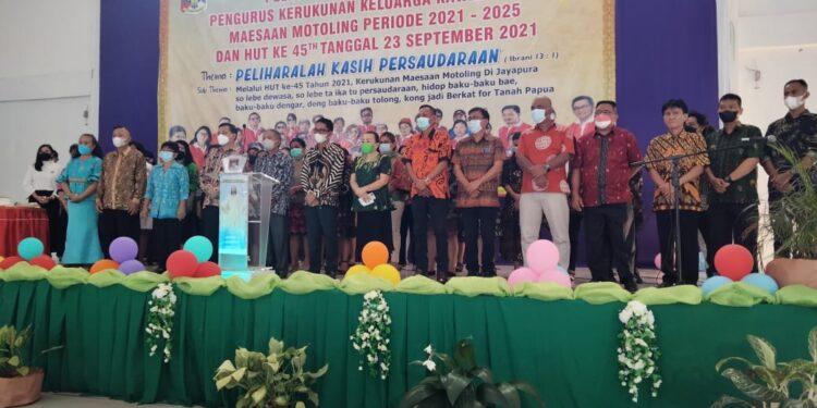 Pelantikan Pengurus Rukun Motoling Kota Jayapura periode 2021-2025 di gedung walewangko, entrop, Kota Jayapura, Minggu (26/9/2021) / Foto: Seo Balubun